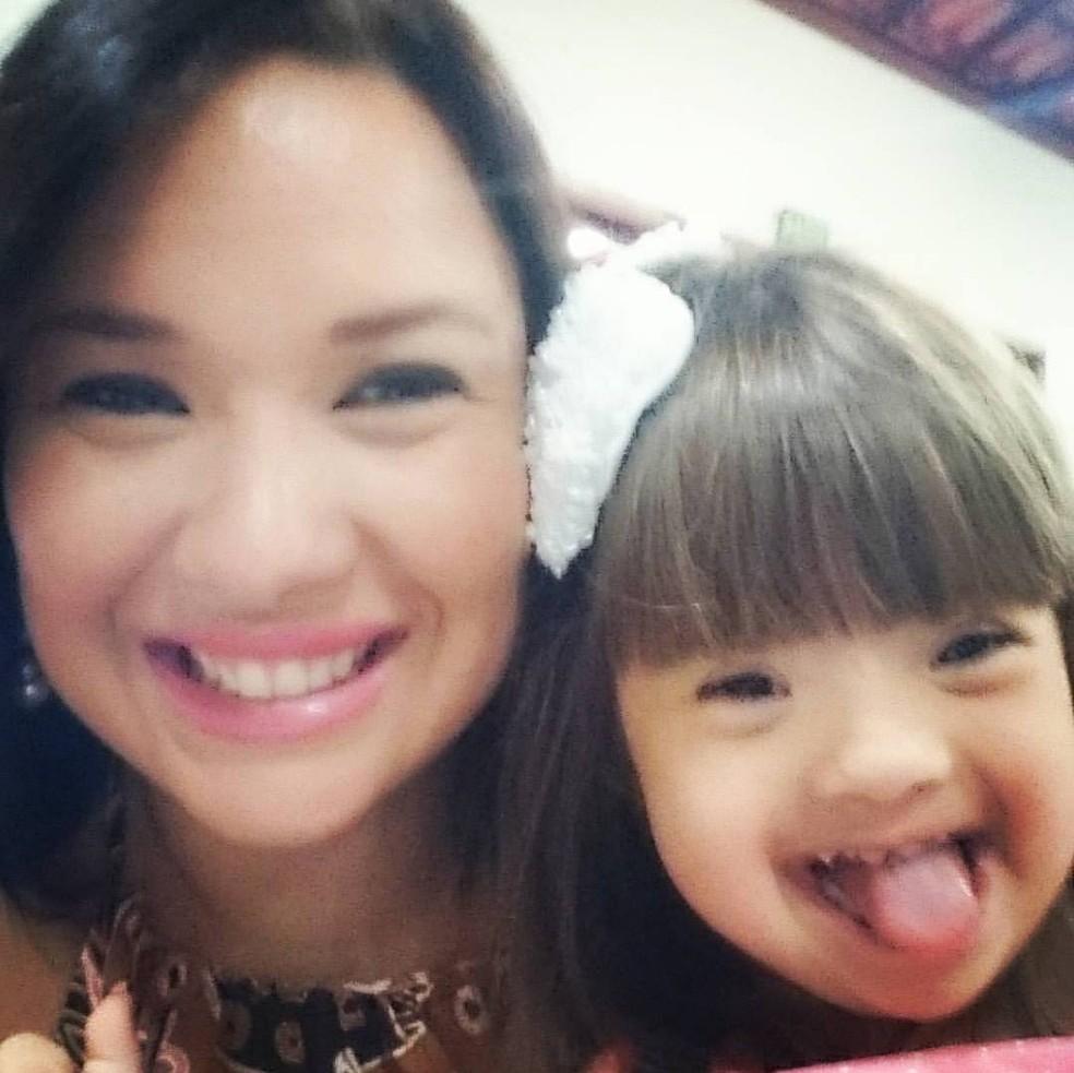 Maria Luiza Duran, de 31 anos, e a pequena Giovana, de 4 (Foto: Arquivo Pessoal / Maria Luiza Duran)