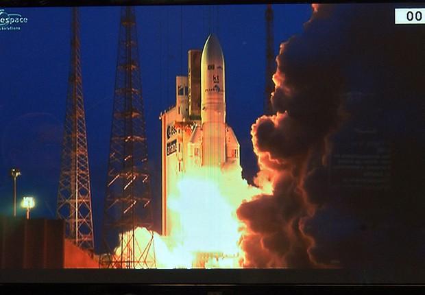 Governo lança primeiro satélite geoestacionário brasileiro para defesa e comunicações estratégicas (Foto: Marcello Casal Jr/Agência Brasil)
