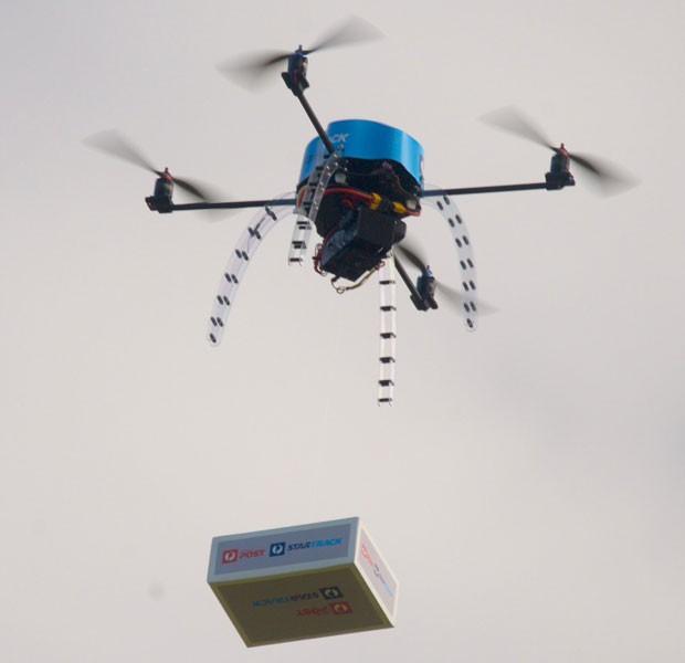 Serviço de correios da Austrália testa drones para fazer entregas. (Foto: Divulgação/Australia Post/Reuters)