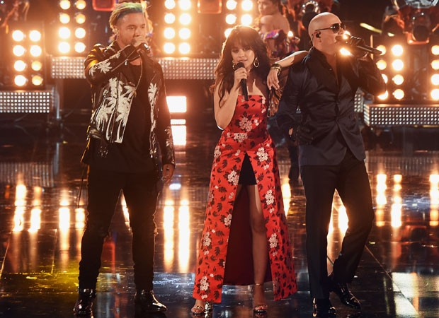 J Balvin, Camila Cabello e Pitbull (Foto: Getty Images)