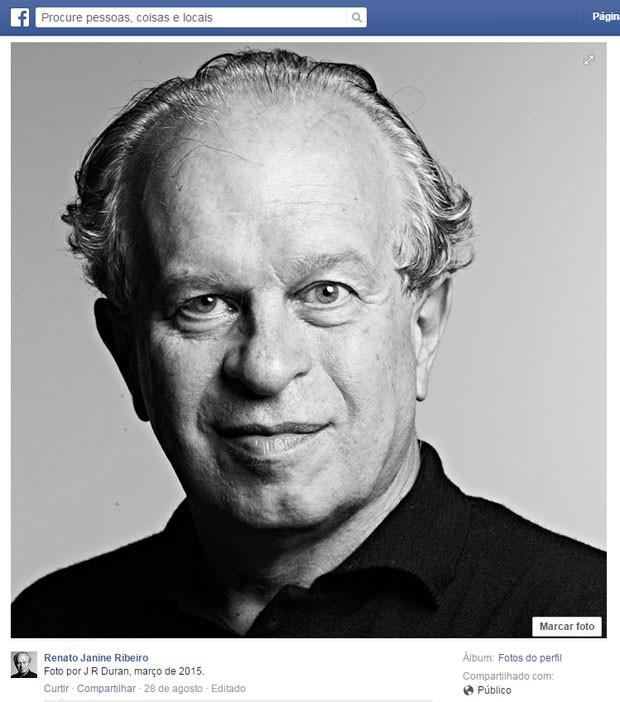 Foto do perfil do ministro Renato Janine Ribeiro (Foto: Reprodução/Facebook)