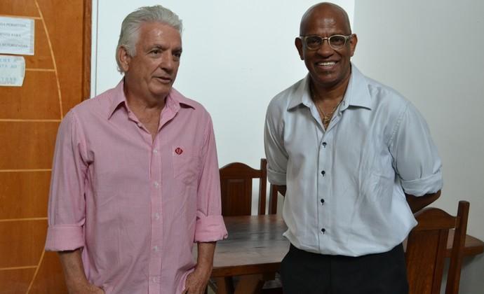 Marco Aurélio Moreira e preparador físico Fernando Moreno Bragantino (Foto: Filipe Rodrigues)
