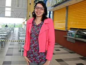 Silvana Fernandes identificou atualização de conteúdo da prova (Foto: Adneison Severiano/G1 AM)