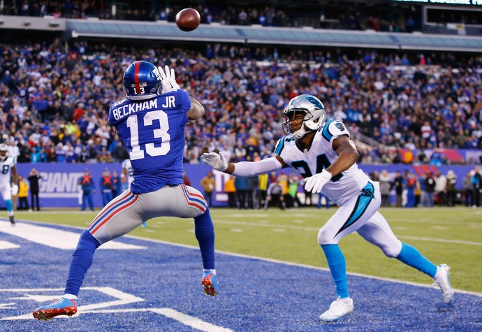 Odell Beckham giants x panthers nfl (Foto: Getty Images)