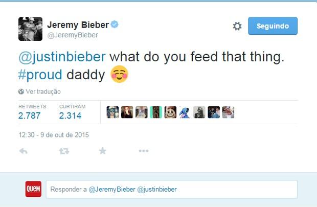 """Pai de Justin Bieber faz piada sobre nudez do cantor: """"Orgulhoso"""""""