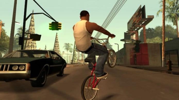 GTA San Andreas exigia que jogadores praticassem exercícios para se manterem saudáveis (Foto: Reprodução/Game Revolution)