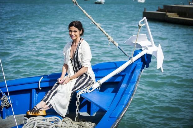 Giovanna Antonelli como a personagem Alice em Sol Nascente, próxima novela das 18h da Rede Globo (Foto: João Miguel Junior/TV Globo)