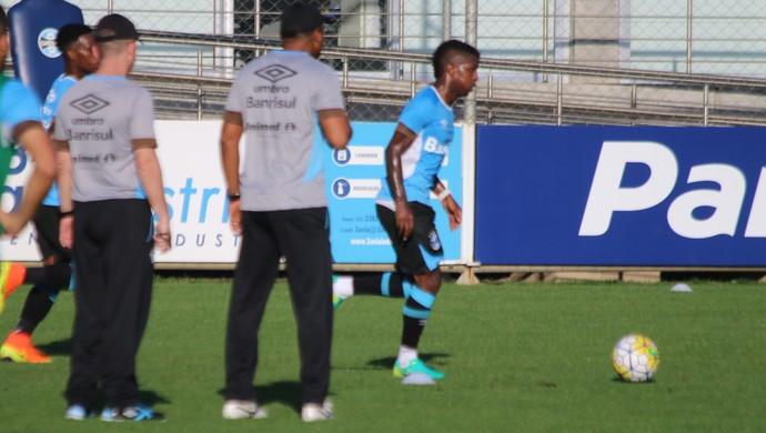 Roger Machado Miller Bolaños Grêmio (Foto: Eduardo Moura/GloboEsporte.com)
