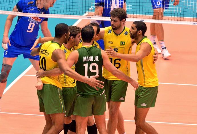 vôlei Brasil Itália liga mundial (Foto: FIVB)