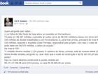 Pelo Facebook, Cid provoca Governo de Pernambuco sobre custo de obra