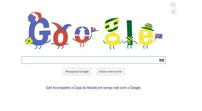 Partida Chile x Austrália ganha Doodle especial para a Copa do Mundo (Foto: Reprodução/Barbara Mannara)