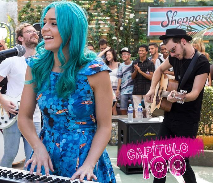 Banda australiana Sheppard participa de 'Malhação - Seu Lugar no Mundo' (Foto: Pedro Curi/Globo)