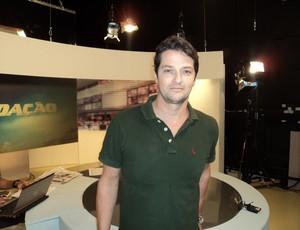 Marcelo Serrado participa do Redação SporTV (Foto: Reprodução SporTV)
