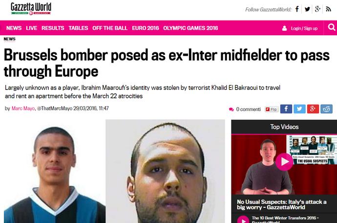 Terroristas Gazzetta dello Sport (Foto: Reprodução / Gazzetta dello Sport)