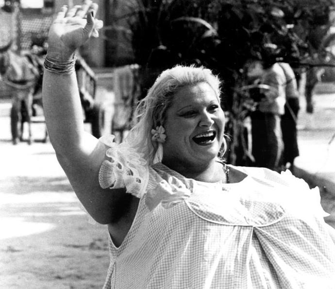 Wilza Carla, na pele de Dona Redonda, um dos personagens mais populares da novela (Foto: Cedoc/ TV Globo)