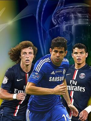 Carrossel Champions League Diego Costa, Thiago Silva e David Luiz - Chelsea X PSG