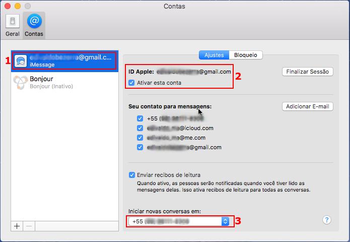 Ajustando as configurações do iMessage no macOS (Foto: Reprodução/Edivaldo Brito)