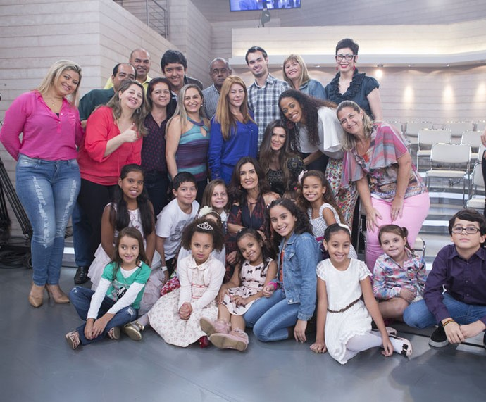 Plateia com a Fátima depois do programa  (Foto: Fábio Rocha/Gshow)