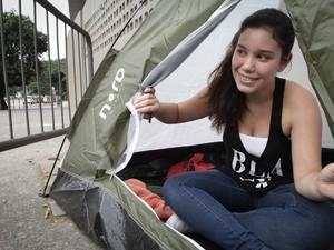Priscila Rocha, 18 anos, diz que trabalha na Justiça Federal e que sua chefe é tranquila (Foto: Caio Kenji/G1)