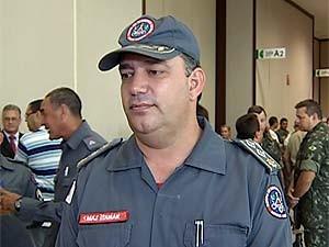 Major Itamar Caetano Filho assume Corpo de Bombeiros em Uberlândia (Foto: Reprodução/TV Integração)