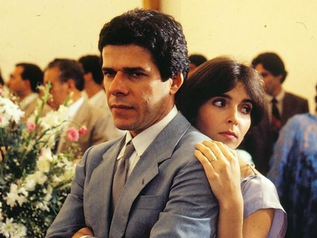 José Mayer (Edson)  e Debora Evelyn (Lenita) em
