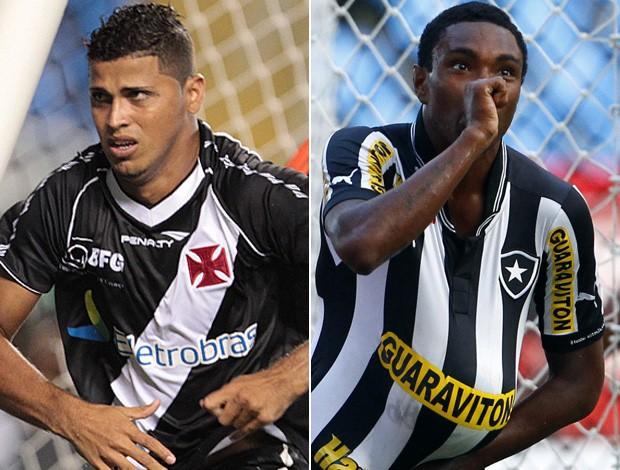 Montagem - Romário e Vitinho, Vasco x Botafogo (Foto: Editoria de Arte)