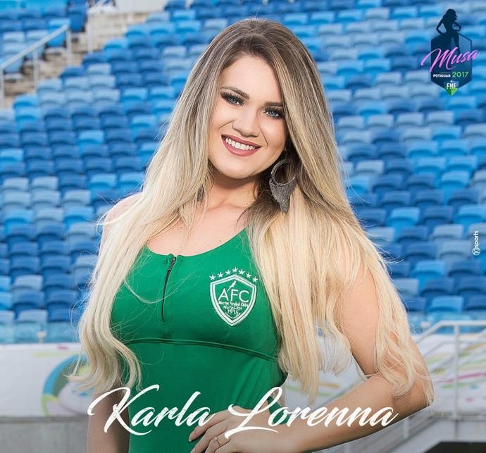 MUSA DO CAMPEONATO POTIGUAR 2017 - Karla Lorenna Cruz Andrade - Alecrim (Foto: Divulgação)
