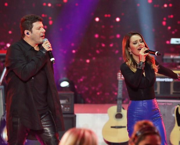 Jurados cantam juntos na estreia do SuperFiltro  (Foto: Isabella Pinheiro/ Gshow)