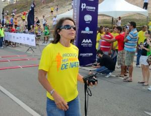 A ex-atleta olímpica Magnólia Figueirêdo é uma das organizadoras da Meia Maratona de Natal (Foto: Augusto Gomes/GLOBOESPORTE.COM)