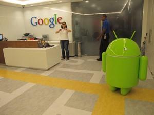 Entrada do novo escritório do Google Brasil em São Paulo. (Foto: Amanda Demetrio/G1)