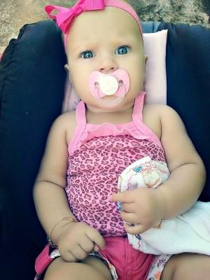 Maria Louise nasceu com problema cardíaco em Rio Branco (Foto: Arquivo pessoal)