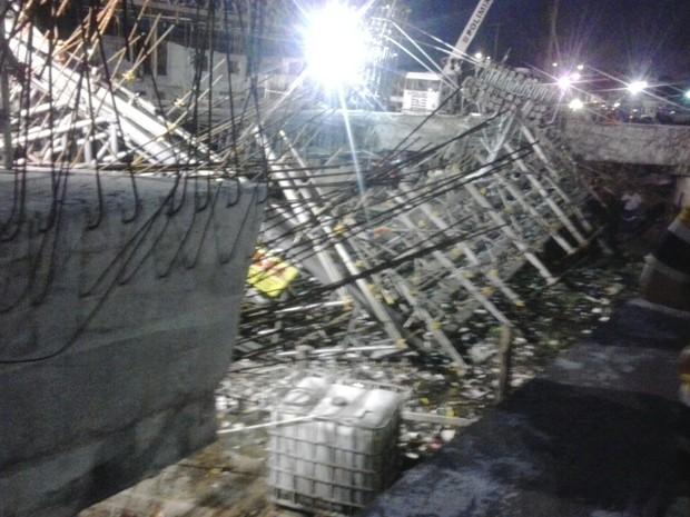 Obra de viaduto desaba e deixa pelo menos 10 feridos em Fortaleza (Foto: Arquivo Pessoal)