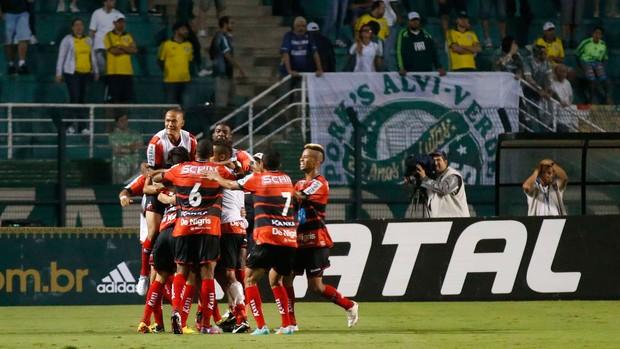 Ituano gol sobre o Palmeiras (Foto: Marcos Ribolli)