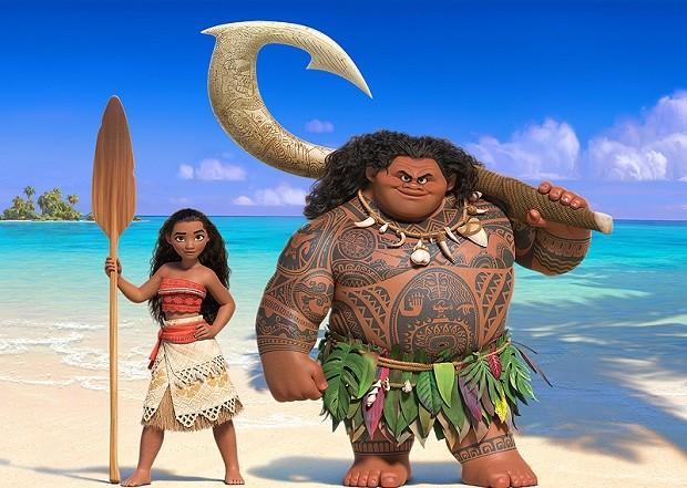 Moana e o semideus Maui (Foto: Reprodução Youtube)