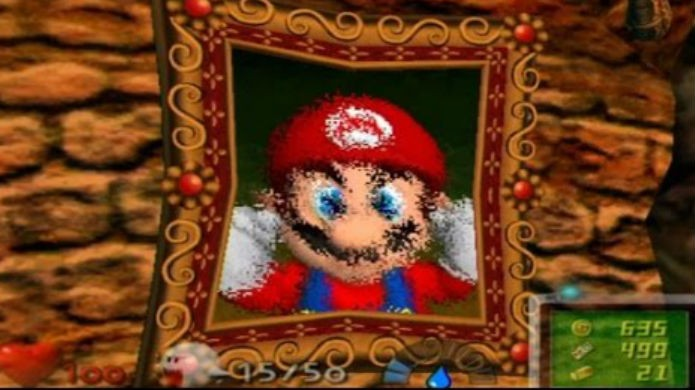 Mario precisa ser resgatado em Luigis Mansion para GameCube (Foto: Reprodução / Thomas Schulze)