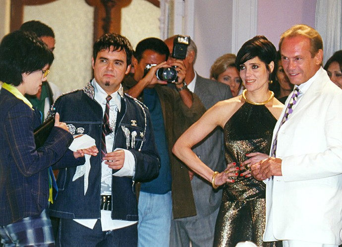 José Wilker interpretou Tarso, opositor e adversário de João Medeiros (Tarcísio Meira). Tanto que se casou com a ex-mulher dele, Naná (Renata Sorrah).  (Foto: Cedoc / TV Globo)