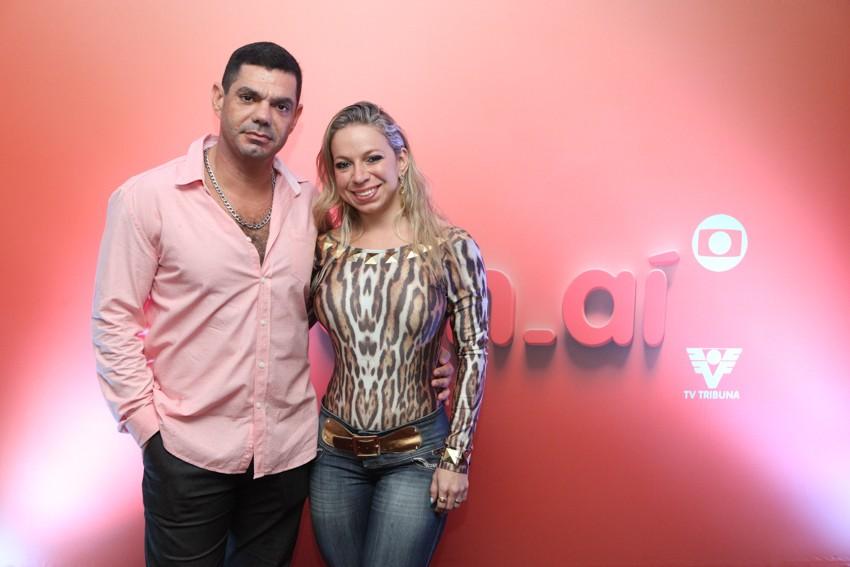 Cliente Sergio Leal e esposa - Construtora Tecnocal - no evento vem_aí (Foto: José Luiz Borges)