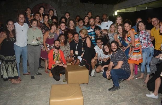 Convidados em festa da peça 'Paixão de Cristo' (Foto: Felipe Souto Maior/AgNews)