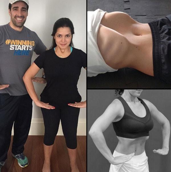 Thais Fersoza explica exercício (Foto: Reprodução/Instagram)