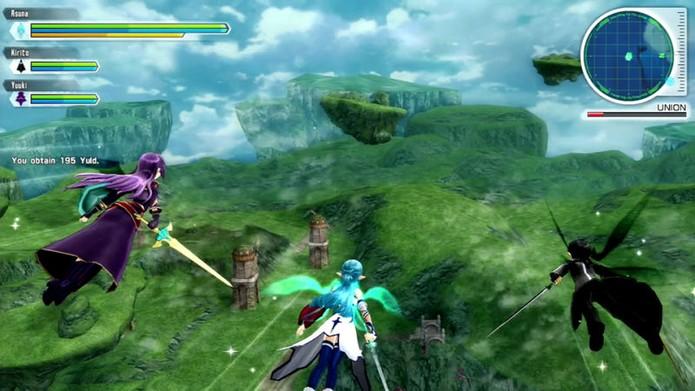 O voo em Sword Art Online Lost Song (Foto: Divulgação/Bandai Namco)