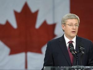 Primeiro-ministro do Canadá, Stephen Harper, comenta a morte de Bin Laden  (Foto: The Canadian Press/AP)