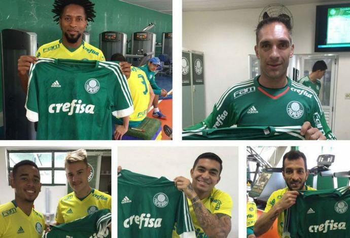 Jogadores do Palmeiras (Foto: Lídia/Arquivo Pessoal)