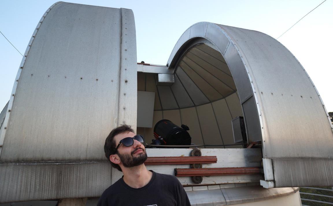 Lucas Schirbel, estudante de Astronomia: sua iniciação científica respondeu importantes perguntas para o desdobramento da pesquisa (Foto: Divulgação IAG/USP)