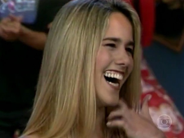 Fernanda Pontes em 1997 (Foto: TV Xuxa / TV Globo)