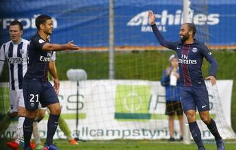 Lucas Moura marca e garante a vitória do PSG sobre o West Bromwich Albion