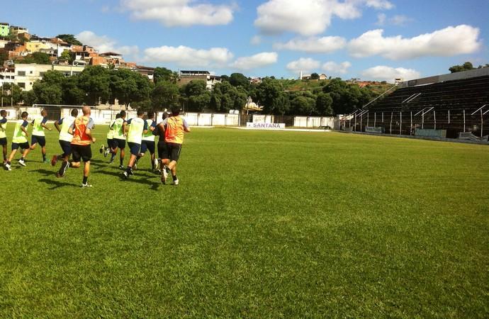 Equipe voltou aos treinos nesta segunda, para o outro amistoso contra o Nacional. (Foto: Davidson Fortunato/GE)