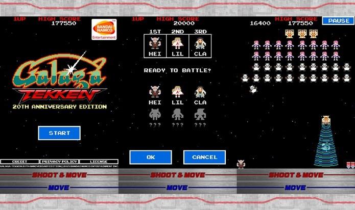 Galaga e Tekken se unem em um jogo viciante (Foto: Divulgação)