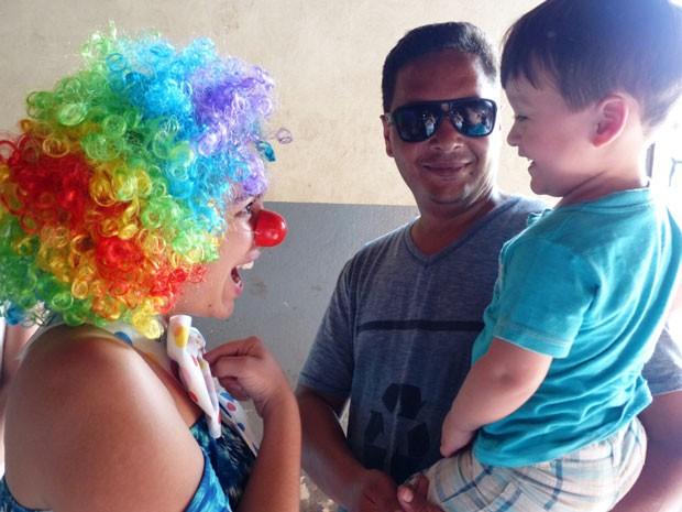 Crianças se divertiram bastante com as brincadeiras (Foto: Divulgação/RPC TV)