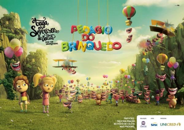 pedágio do brinquedo 600 (Foto: Divulgação/RBS TV)
