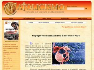 Artigo foi publicado na revista Catolicismo em 2012 (Foto: Reprodução/Internet)